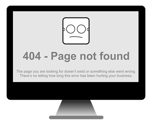 web design infrastructure is important - there's no telling how long this error has been hurting your business