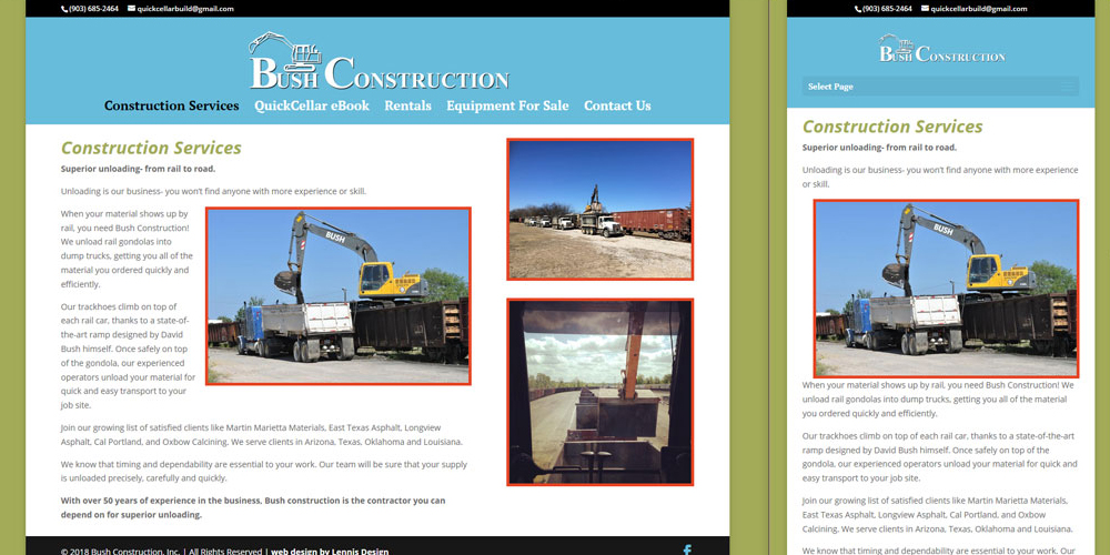 Bush Construction, Inc - With over 50 years of experience in the business, Bush construction is the contractor you can depend on for superior unloading.