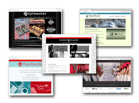 Web Design - The web is the first place people look to learn more about you, so make sure you look good!