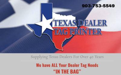 Texas Dealer Tag Printer – ABC Printing