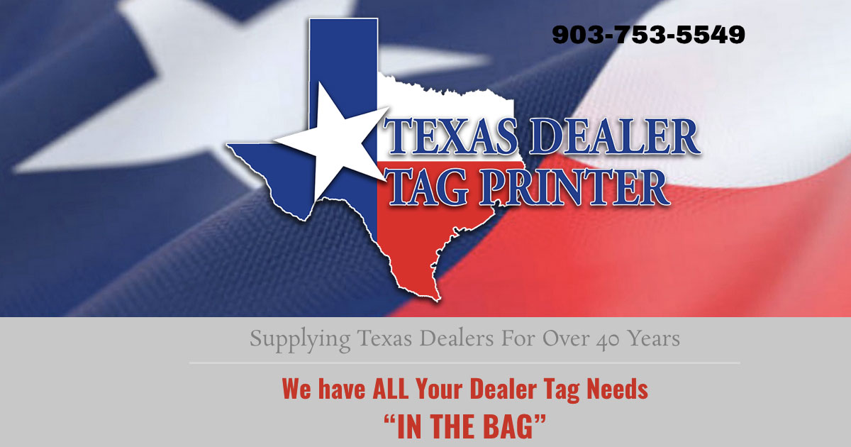 Texas Dealer Tag Printer - ABC Printing, Longview, TX
