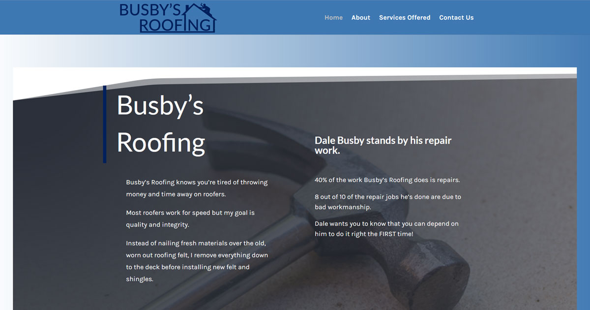 Busby's Roofing - Winona